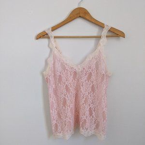 Pale Pink Lace Camisole